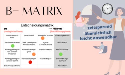 b-matrix: die Entscheidungsmatrix für´s Online Business